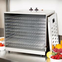 Avantco Ten Rack Stainless Steel Food Dehydrator with Remova