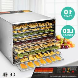 10 Tray Food Dehydrator Electric Stainless Steel Vegetables