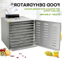 10 Tray Stainless Steel Food Dehydrator Jerky Fruit Vegetabl