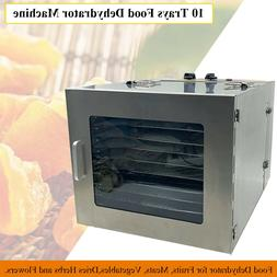 10Tray Food Dehydrator Professional Commercial for Fruits Dr