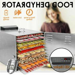 10Tray Stainless Steel Food Dehydrator Commercial Fruit Meat