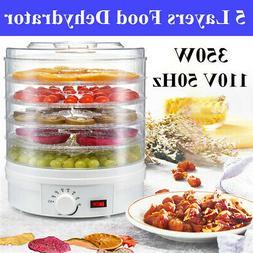 110V 350W 5 Trays Food Dehydrator Fruit Vegetable Meat Dryer