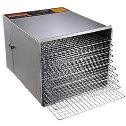 1200W 10 Tray Stainless Steel Dry Food Jerky Fruit Dehydrato