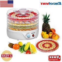 120V Excelvan 5Tray FOOD DEHYDRATOR Beef Jerky Snack Fruit D