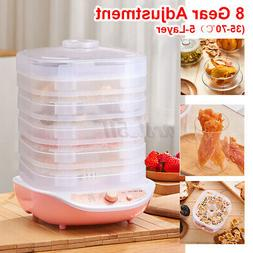 220V 5 Tray Food Dehydrator Fruit Vegetable Meat Tray Drying
