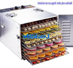220V Stainless Steel Household 10 Trays Fruit Dehydrator Foo