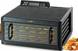 Excalibur 3548CDB Clear Door 5 Tray Food Dehydrator w/ Digit