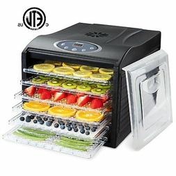 Ivation 480w Electric Food Dehydrator Pro with 6 Drying Rack