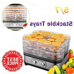 5/7 Trays Food Dehydrator Machine for Jerky Meat Fruit Veget