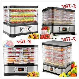 5-8 Tier Tray Electric Food Dehydrator Fruit Vegetable Dryer