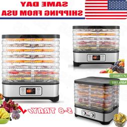 5/8 Tier Trays Electric Food Dehydrator Machine Fruit Dryer