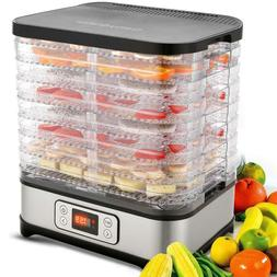 5/8 Tray Food Dehydrator Preserver Fruit Vegetable Dryer Tem