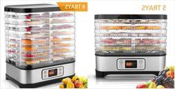 5/8 Trays 250W/400W Food Dehydrator Machine, Digital Timer &