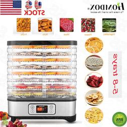 5 8 trays stainless steel food dehydrator