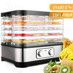 5 Stackable Trays Electric Food Dehydrator Machine Fruit Dry