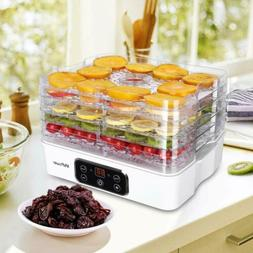 5 Tier Food Dehydrator Machine with LED Display Food Fruit D