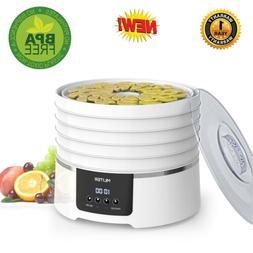 5-Tray Electric Digital Food Dehydrator 450W Veg Flower Snac