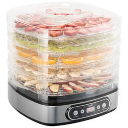 5 tray food dehydrator height adjustable fruit