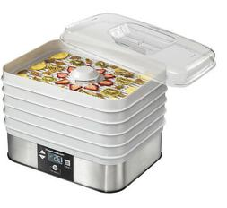 Hamilton Beach - 5-tray Food Dehydrator - Silver/white