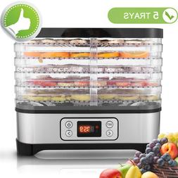 5-Tray Food Dehydrator Machine Electric Food Preserver Fruit