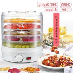 5 Trays Food Dehydrator Fruit Vegetable Meat Dryer Kitchen D