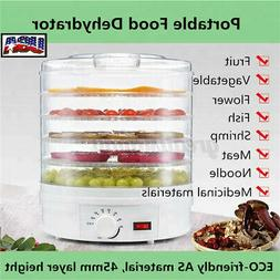 5 Trays Food Dehydrator Fruit Vegetable Meat Dryer Home Kitc