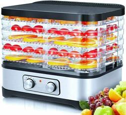 5-Trays Food Dehydrator Machine Electric Beef Jerky Fruit Ve