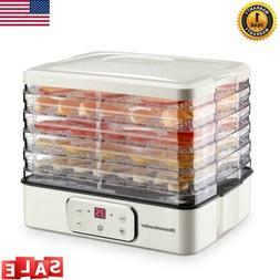 5 trays food dehydrator preserver fruit vegetable