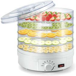 5 Trays Food Vegetable Dehydrator Adjustable Thermostat Frui