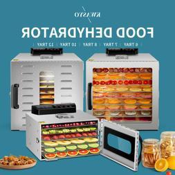 KWASYO 5/6/10 Tray Food Dehydrator Stainless Steel Machine w