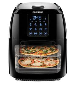 Chefman 6.3 Quart Digital Air Fryer+ Rotisserie, Dehydrator,