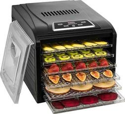 Gourmia - 6-Tray Food Dehydrator - Black