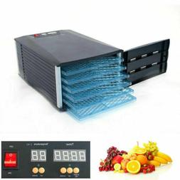 6 Tray Food Dehydrator Jerky Fruit Vegetable Dryer Blower wi