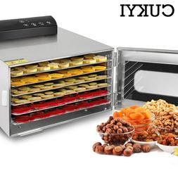 CUKYI 6 Trays Food <font><b>Dehydrator</b></font> Snacks Deh