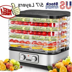 7 tray food dehydrator stainless steel fruit