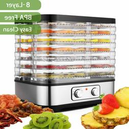 8/5-Tray Food Fruit Dehydrators Beef Jerky Digital Timer&Tem