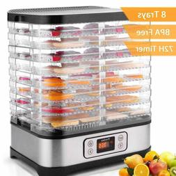 8 Stackable Trays Food Dehydrator Machine Electric Multi-lay