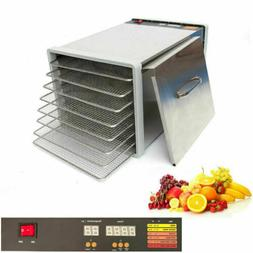 8 Tray Stainless Steel Food Dehydrator Jerky Fruit Vegetable