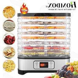 8 Trays 400W Electric Food Dehydrator Meat Jerky Fruit Dryer