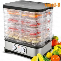 Homdox 8 Trays Electric Food Dehydrator Fruit Dryer Meat Pre