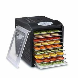 "Samson ""Silent"" 9 Stainless Steel Tray Dehydrator with Digit"