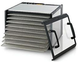 Excalibur 9-Tray Clear Door Stainless Steel Dehydrator w/Sta