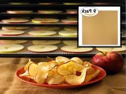 9pk Reusable Teflon Dehydrator Sheets Non-Stick Dishwasher S