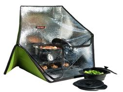 Sunflair Portable Solar Oven Deluxe with Complete Cookware,