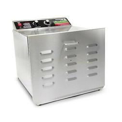 TSM Products Stainless Steel Food Dehydrator with 10 Stainle