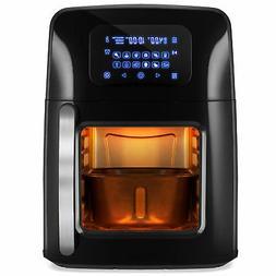 BCP 12.4qt XL Air Fryer Oven, Rotisserie, Dehydrator w/12 Pr