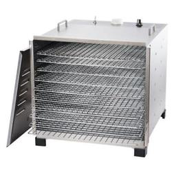 Big Bite Stainless Steel Dehydrator with Chrome Plated Trays