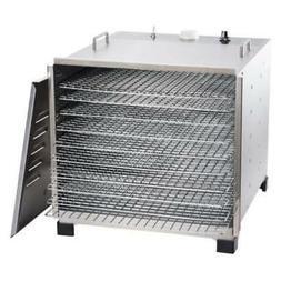 Big Bite Stainless Steel Dehydrator with Stainless Steel Tra