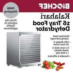 BioChef Kalahari 16 Tray Food Dehydrator Stainless Steel Bes