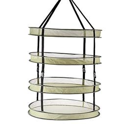4 Layer Collapsible Mesh Hanging Dryer Rack Plant Herb Dryin